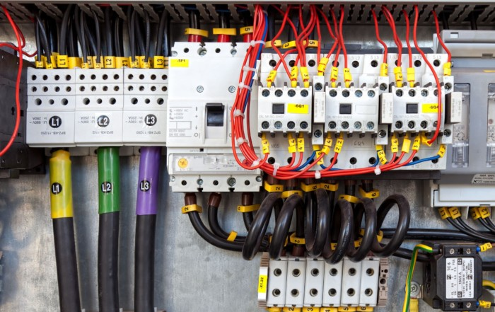 18387351 - electrical panel with fuses and contactors