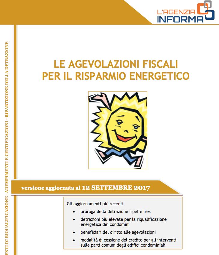 Guida agenzia delle entrate agevolazioni fiscali per for Agenzia delle entrate risparmio energetico